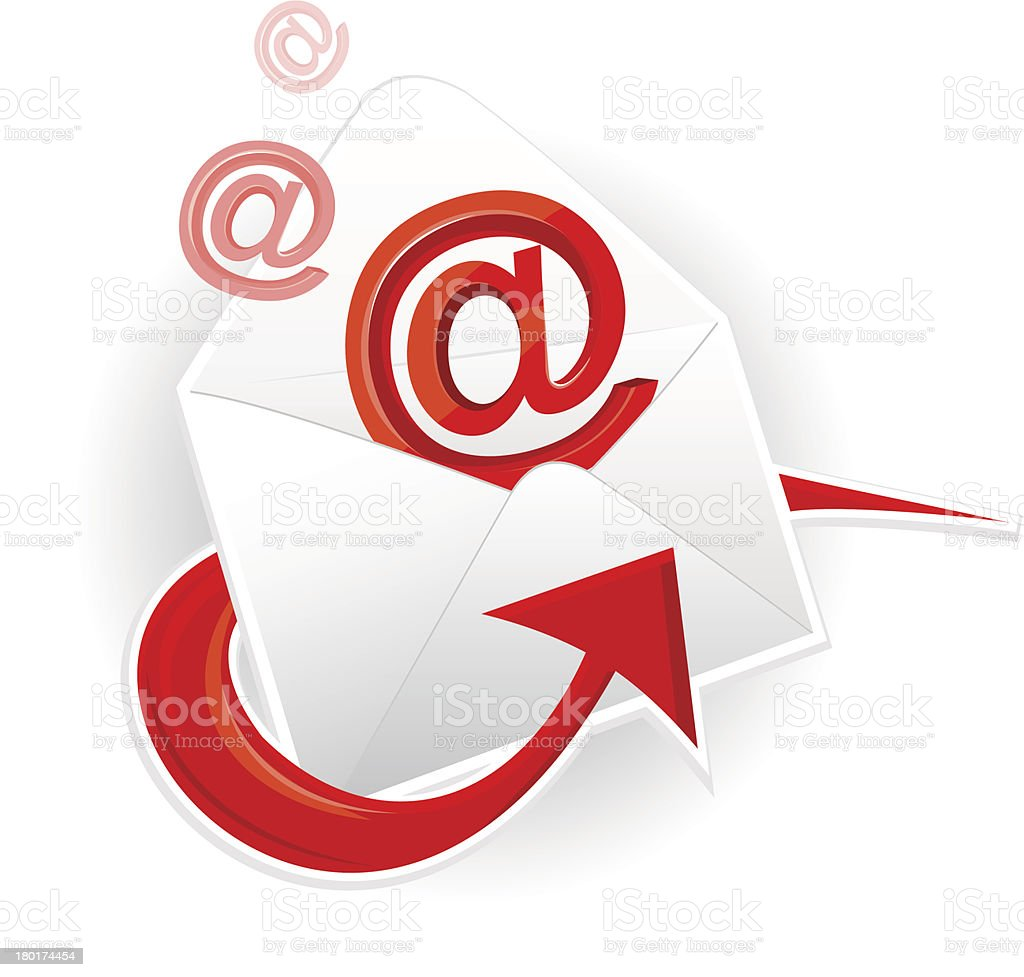 Symbol email and envelope royalty-free stock vector art