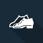 Symbol Enclosed Shoes Are Required In The Manufacturing Area sign on black background,Vector illustration