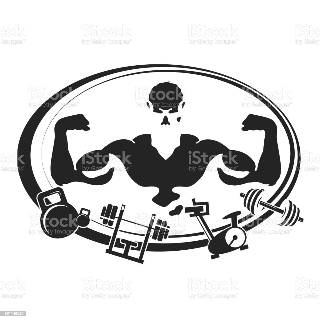 Symbol For Gym And Fitness Stock Vector Art More Images Of Adult