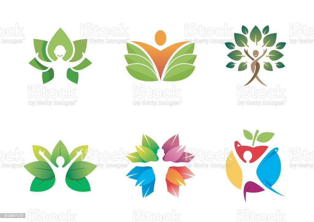 Símbolo médico diseño de la hoja de personaje - ilustración de arte vectorial