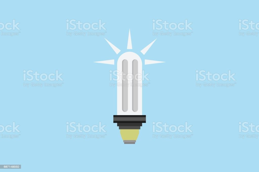 symbol icon bulb sign.vector and illustration vector art illustration
