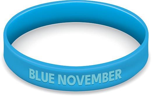Vetores de Símbolo Icone Da Luta E Da Consciência Azul Movember Contra Pulseira De Câncer De Próstata Azul Ideal Para Materiais Educativos E Informativos e mais imagens de Arte, Cultura e Espetáculo