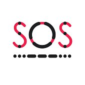 SOS symbol in international Morse Code