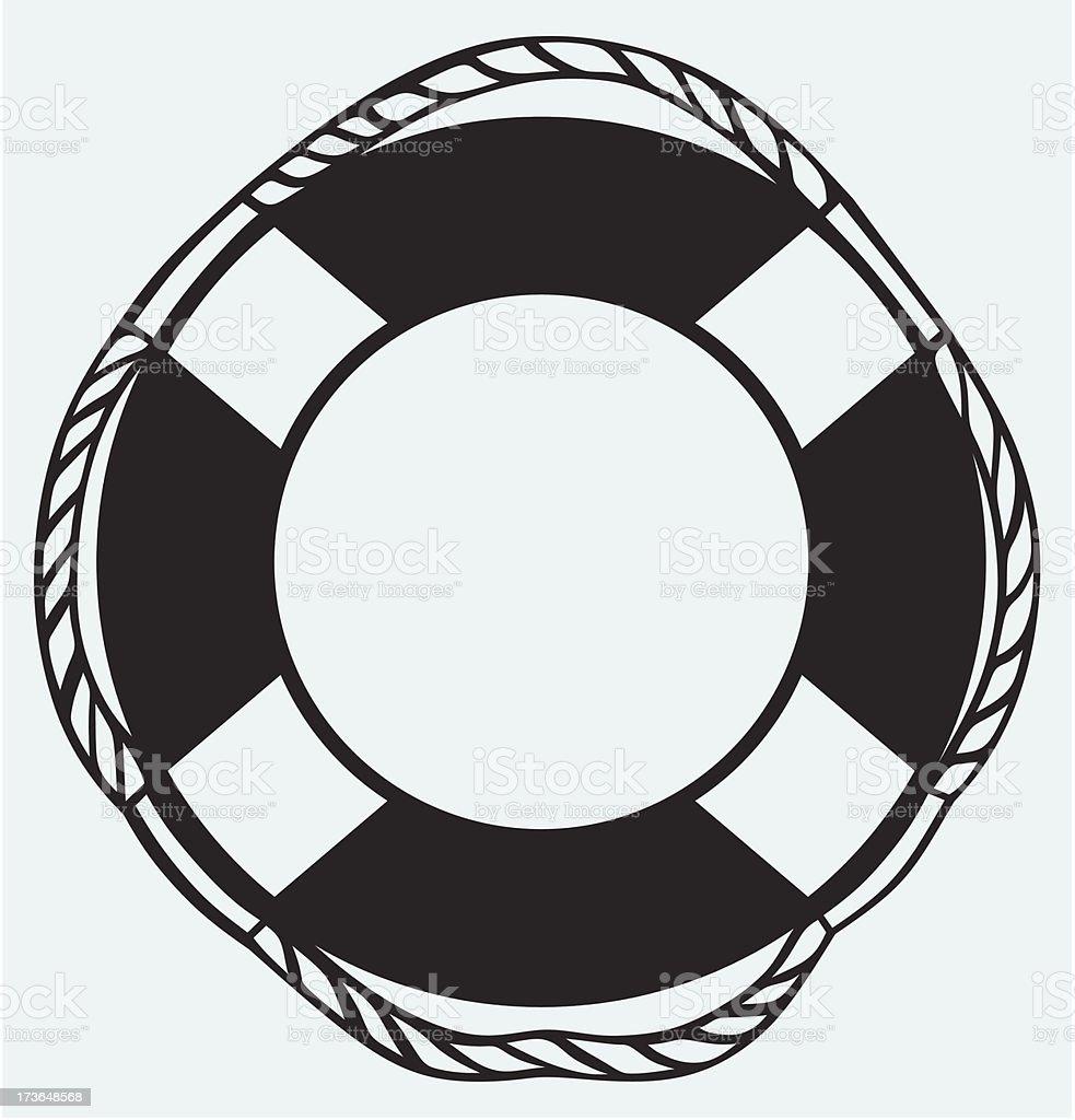 Symbol lifebuoy vector art illustration