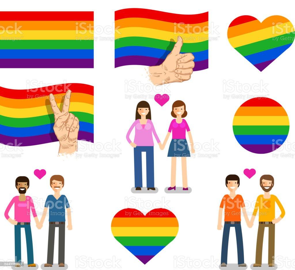 Флаг лесбияное и геев