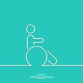 Symbol man on the wheelchair