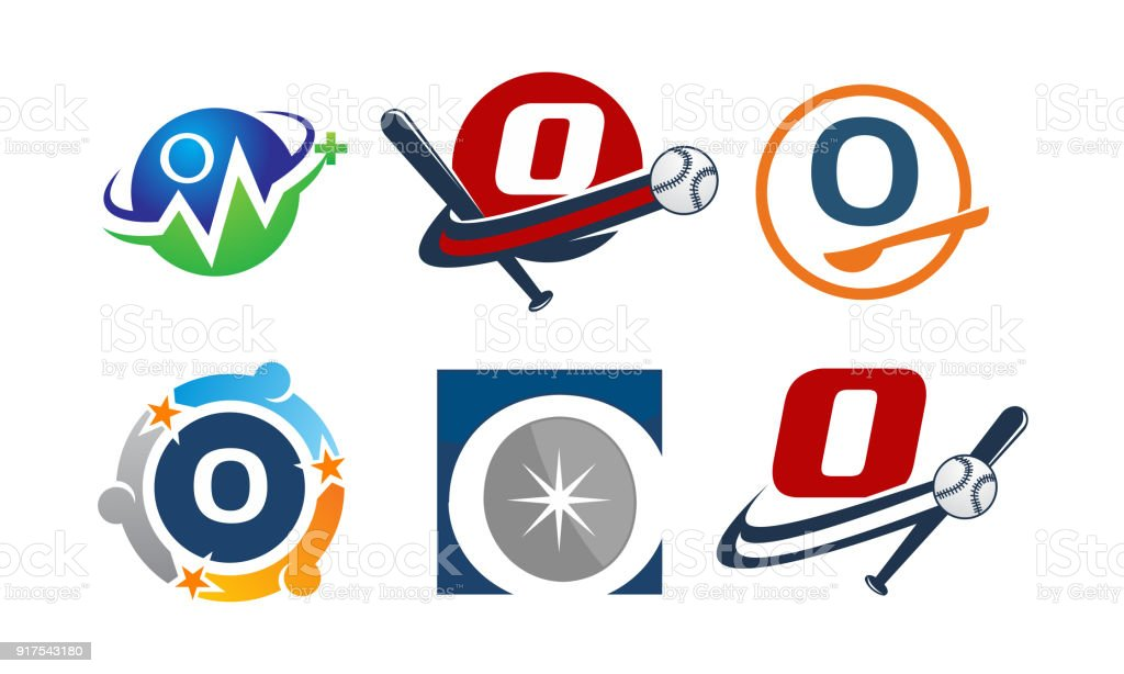 Symbol O Modern Template Set Stock Vector Art More Images Of
