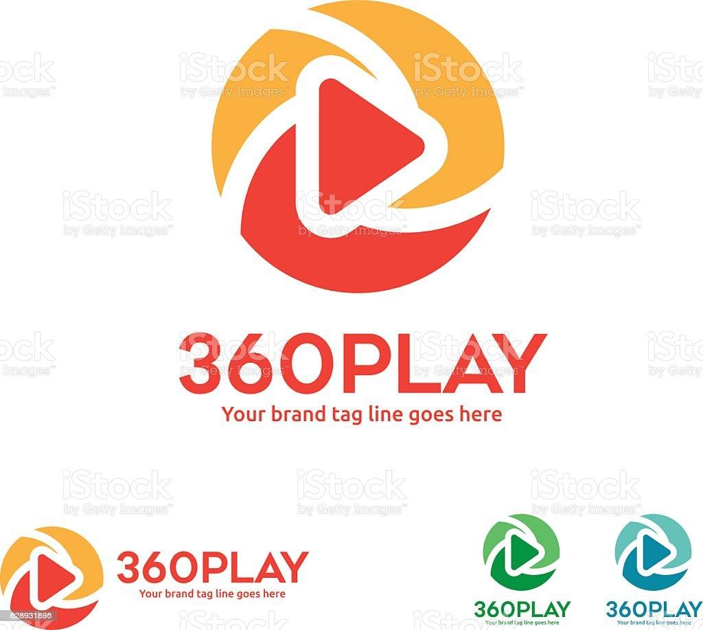Symbol of 360 Degree View Player – Vektorgrafik
