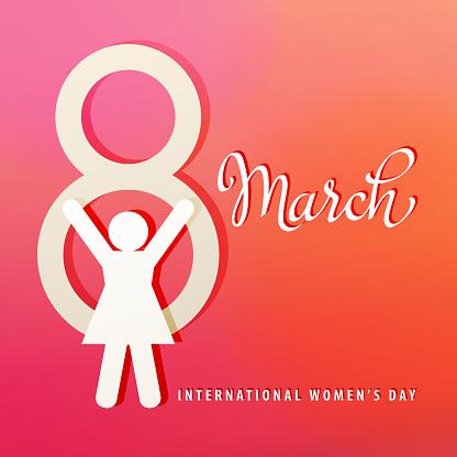 Symbol of 8 March & Female