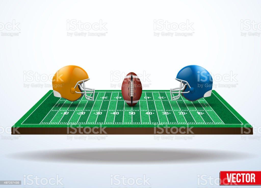 e6b2f54c0 Ilustração de Símbolo De Um Jogo De Futebol Americano No Campo e ...