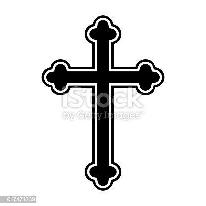 Symbol Of A Church Cross Christianity Religion Symbol Stock Vector