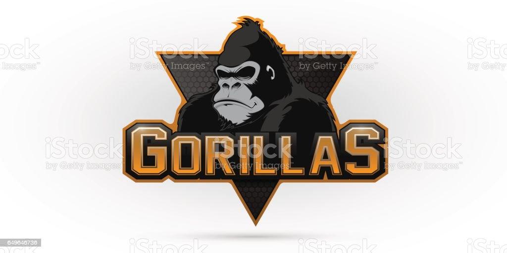 Símbolo de um gorila - ilustração de arte em vetor