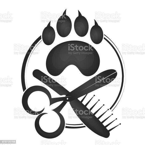 Symbol of a hairdresser for animals vector id879725758?b=1&k=6&m=879725758&s=612x612&h=4vrzayjpuzlq jcb4vomsst2cwtclalfooskhgaptg4=