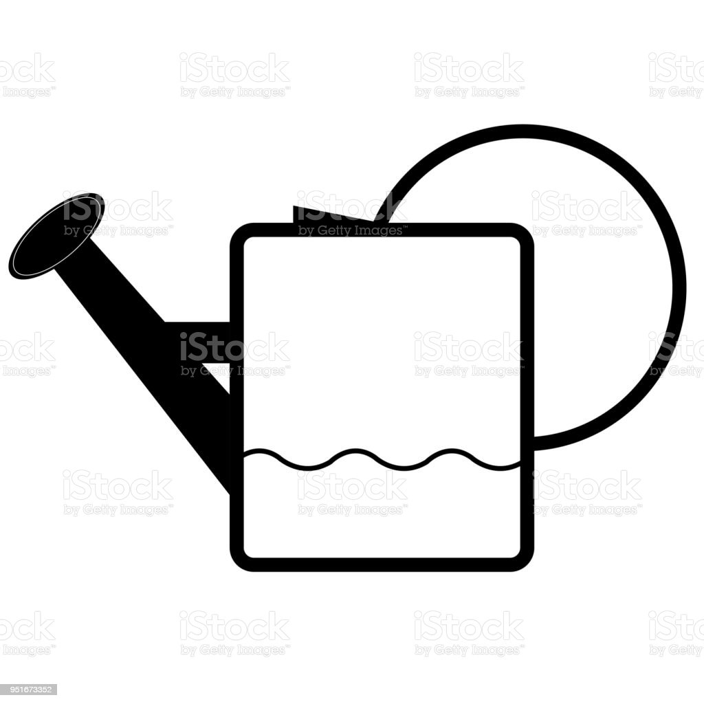 Symbol Of A Watering Pot Stock Vector Art More Images Of