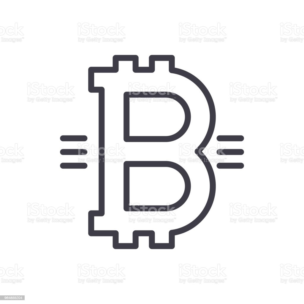 Symbol of bitcoin black icon concept. Symbol of bitcoin flat  vector symbol, sign, illustration. royalty-free symbol of bitcoin black icon concept symbol of bitcoin flat vector symbol sign illustration stock vector art & more images of bank