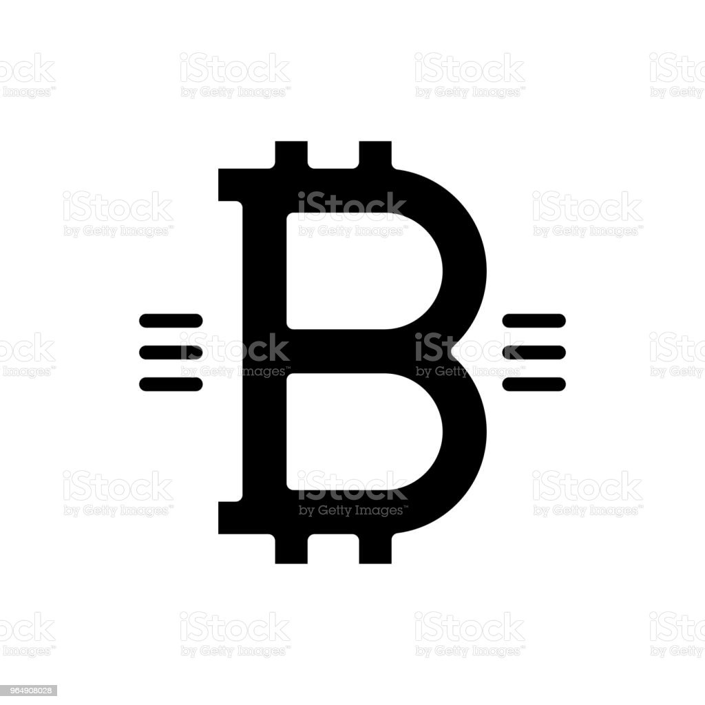 Symbol of bitcoin black icon concept. Symbol of bitcoin flat  vector symbol, sign, illustration. royalty-free symbol of bitcoin black icon concept symbol of bitcoin flat vector symbol sign illustration stock vector art & more images of backgrounds