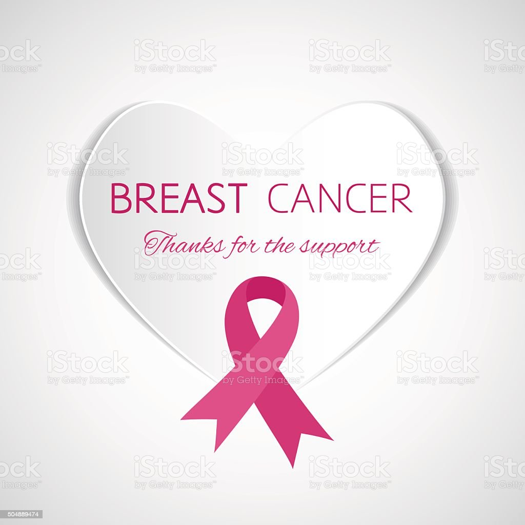 Symbol Of Breast Cancer Support Stock Vector Art More Images Of A