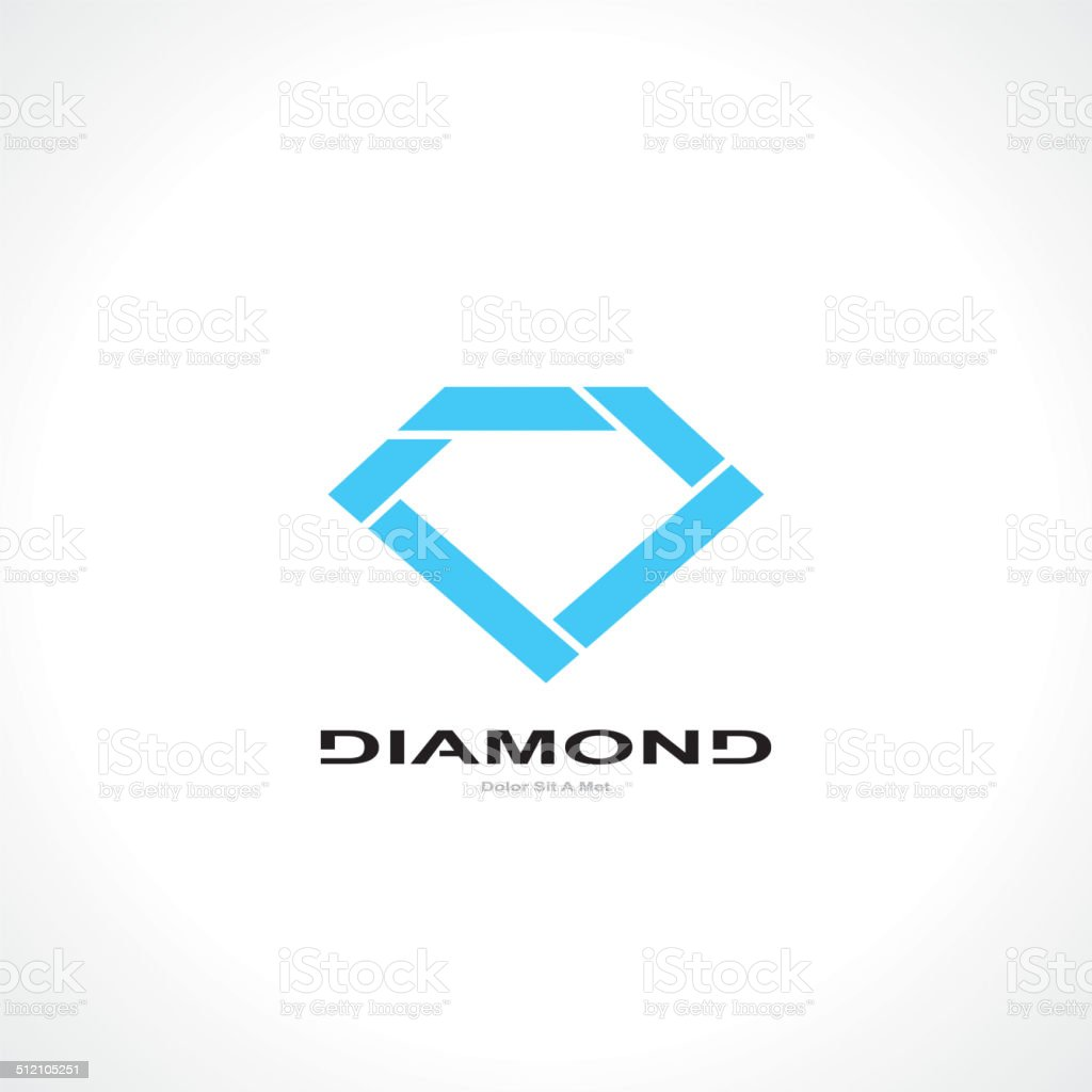 symbol of diamond vector art illustration