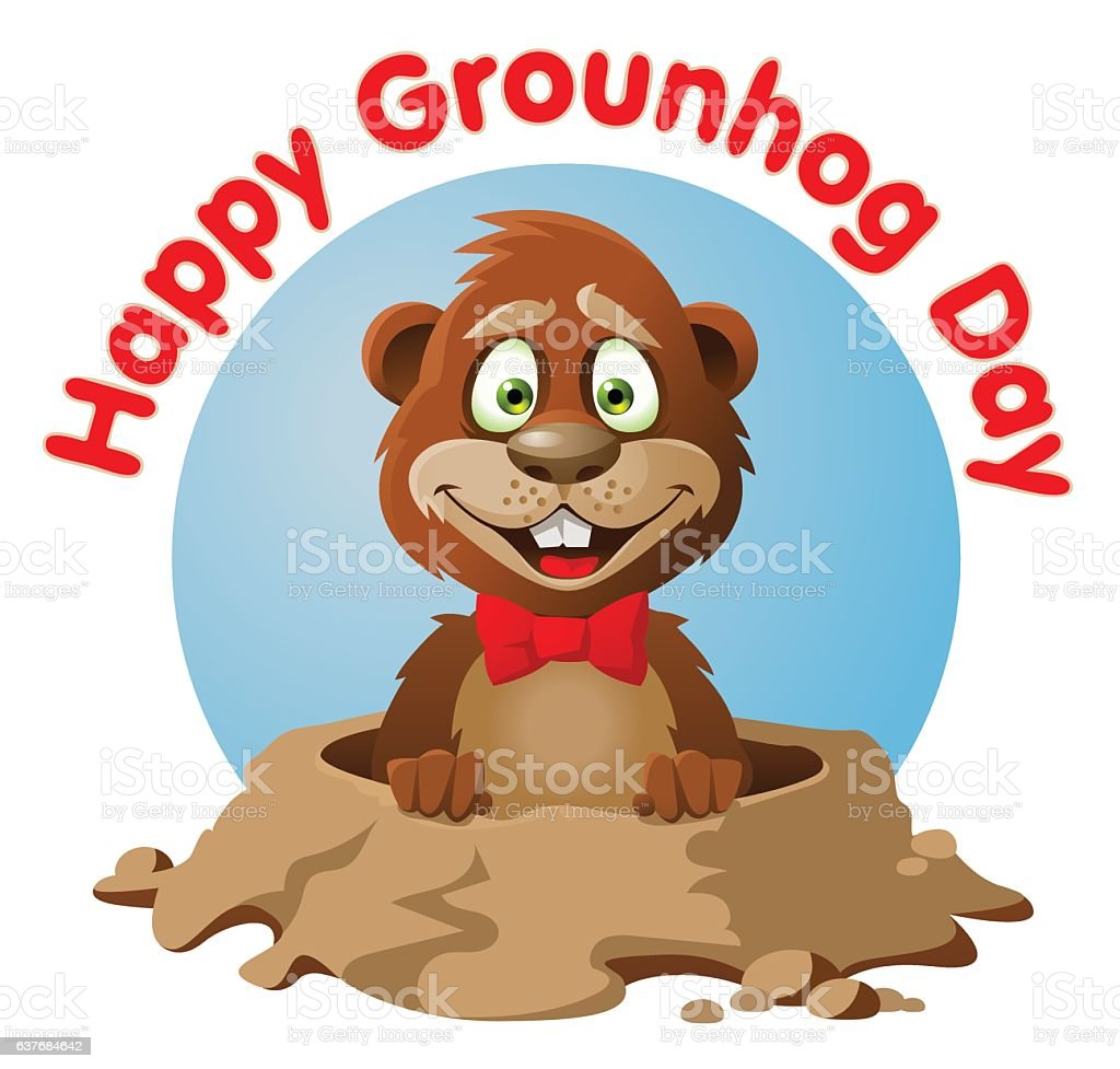 royalty free groundhog day clip art vector images illustrations rh istockphoto com free groundhog clipart pictures