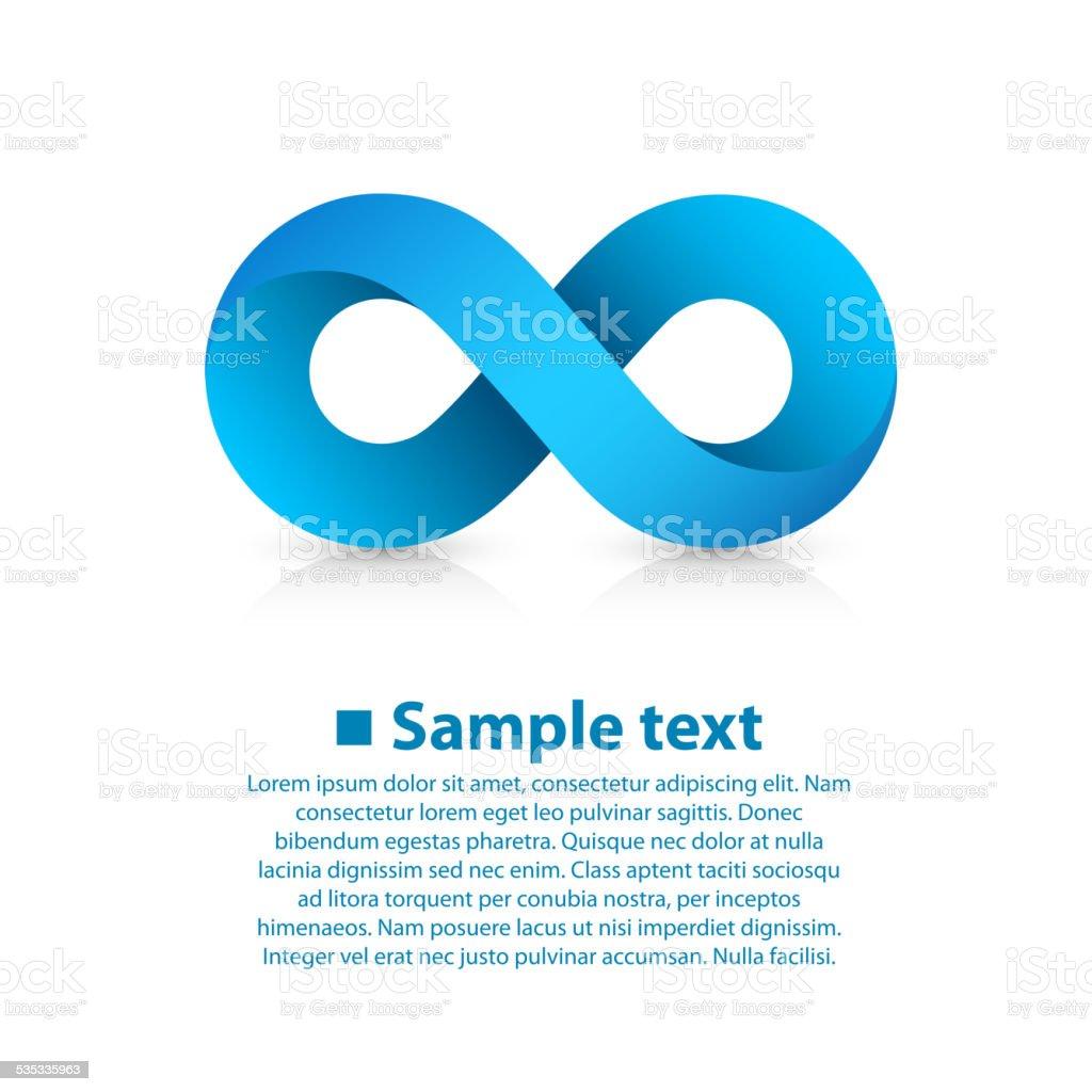 Symbol of infinity vector art illustration