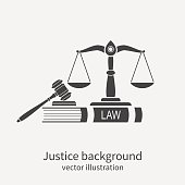 istock Symbol of law and justice. Concept law and justice. 539840786