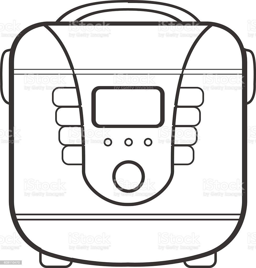 symbol of multivarka. line art vector illustration vector art illustration