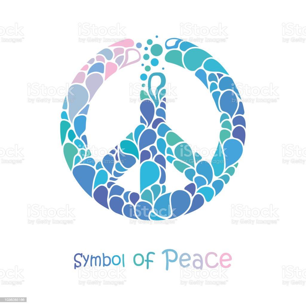 Vetores De Simbolo Da Paz Sinal De Paz Desenho Consiste De Gotas