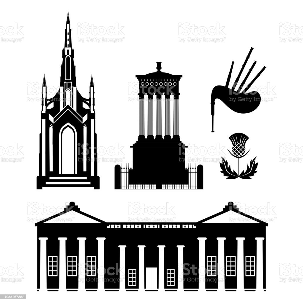 Ilustración de Símbolo De Escocia Reino Unido Turismo Y Punto De ...