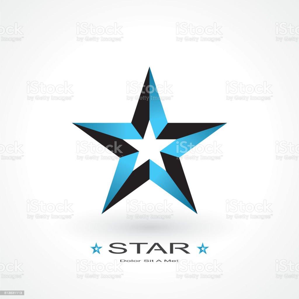 symbol of star vector art illustration