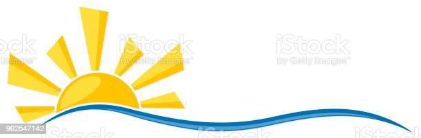 Vetores de Símbolo Do Sol Com Onda e mais imagens de Abstrato