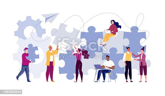 istock Symbol of teamwork, cooperation, partnership. 1262600344
