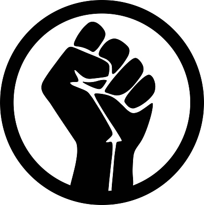 Symbol of the black freedom movement. protest. Movement for freedom and equality. Flat vector illustration.