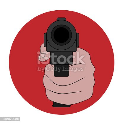 Symbol Of The Prohibition Of Weapons Terrorism And Violence Stop The