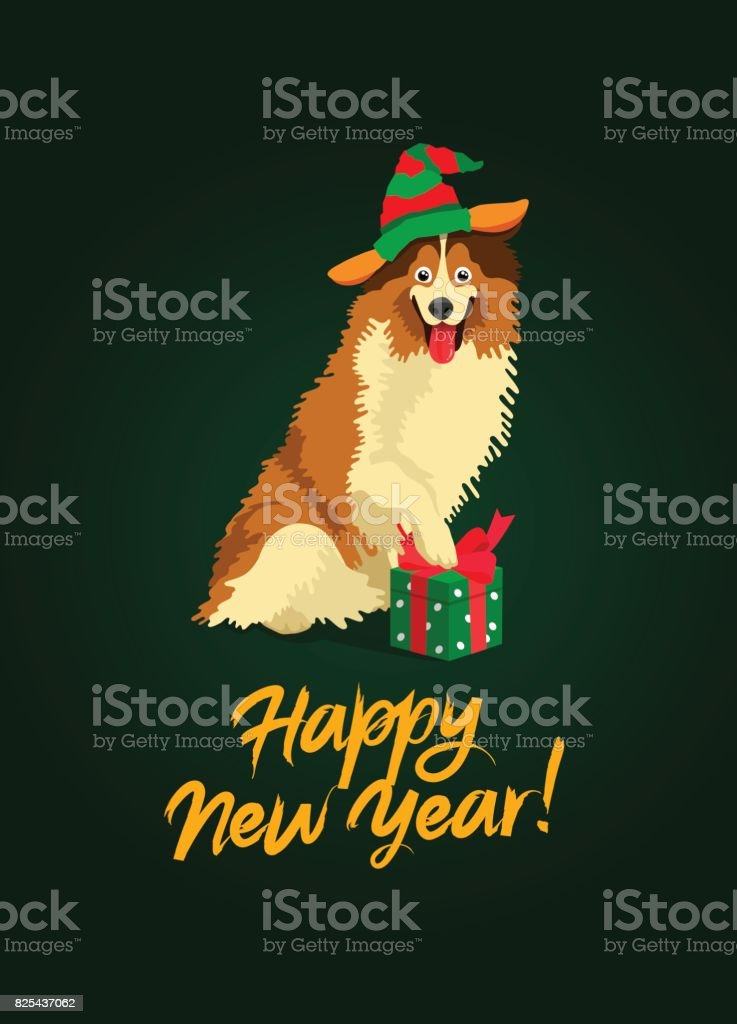 Symbol of the year 2018. Cute Collie