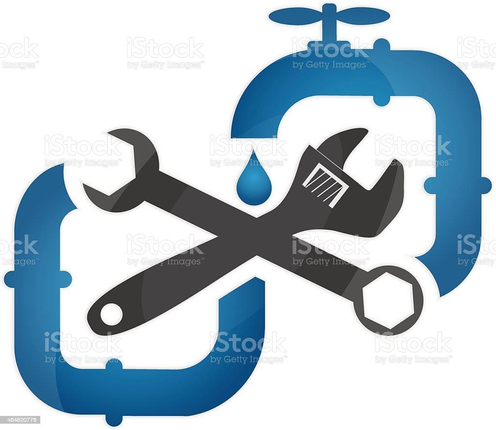 Symbol plumbing and repair vector art illustration