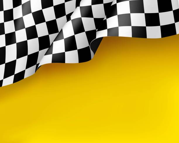 symbol racing canvas realistic yellow background - race stock illustrations