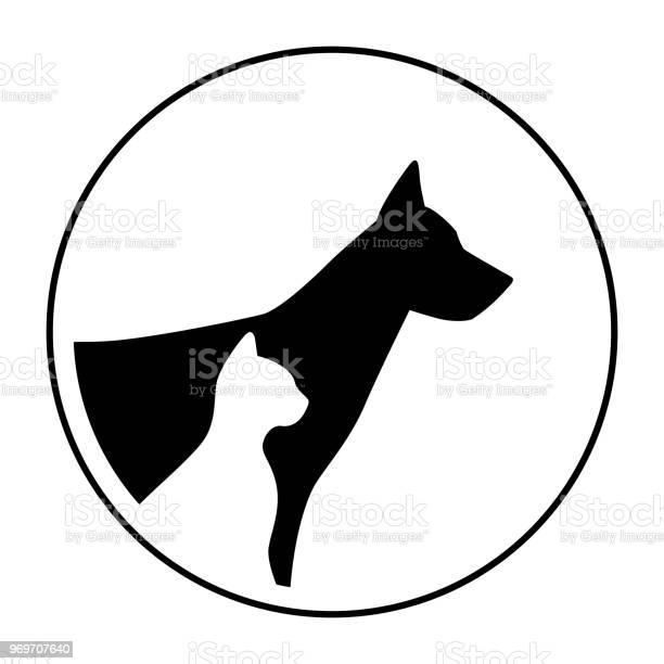 Symbol sign pet dog cat animals portrait head silhouette vector id969707640?b=1&k=6&m=969707640&s=612x612&h=4yziinf2fyrxlpnufjeqcdjzejjkltwqjiz m34n  c=