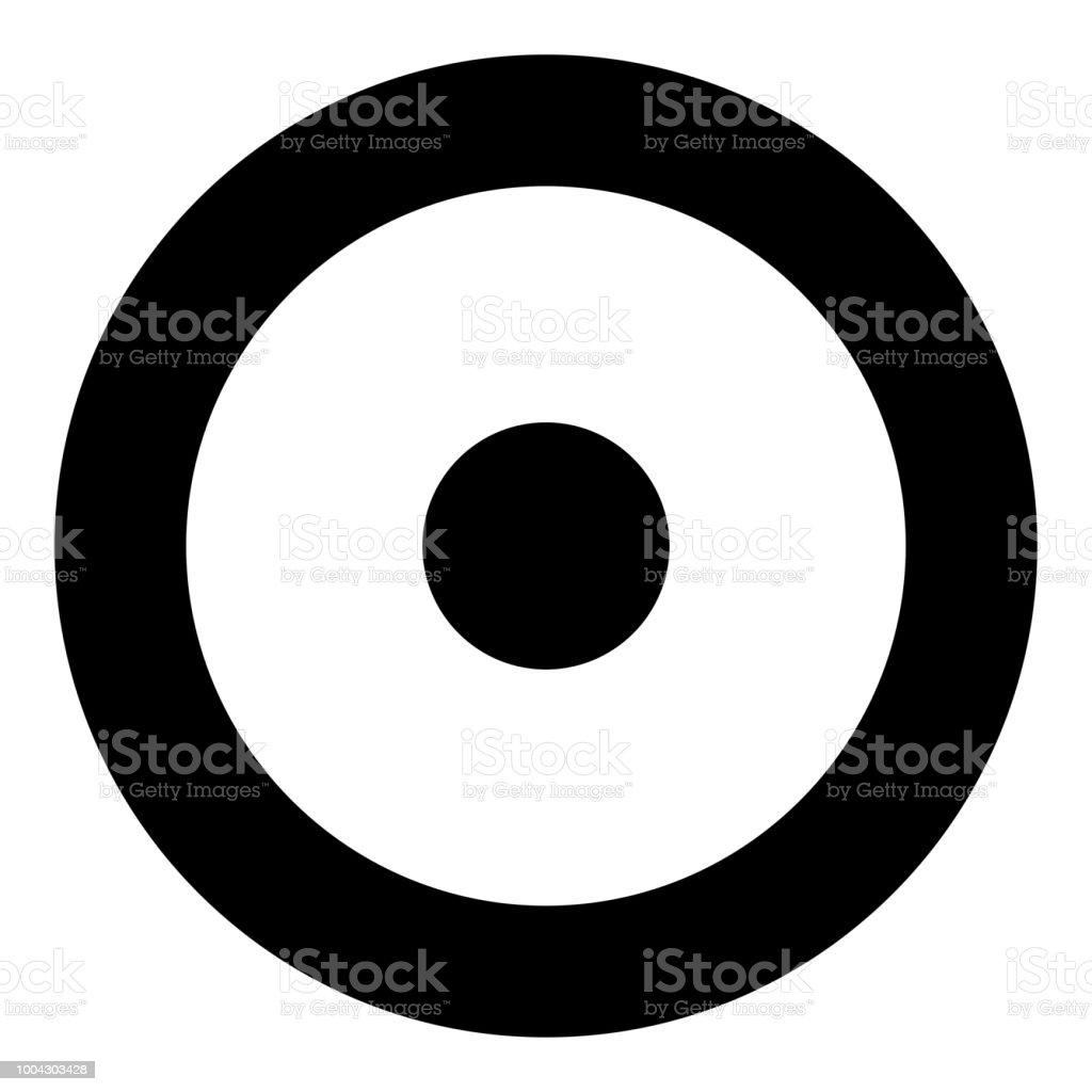 Symbol sun icon black color illustration flat style simple image vector art illustration