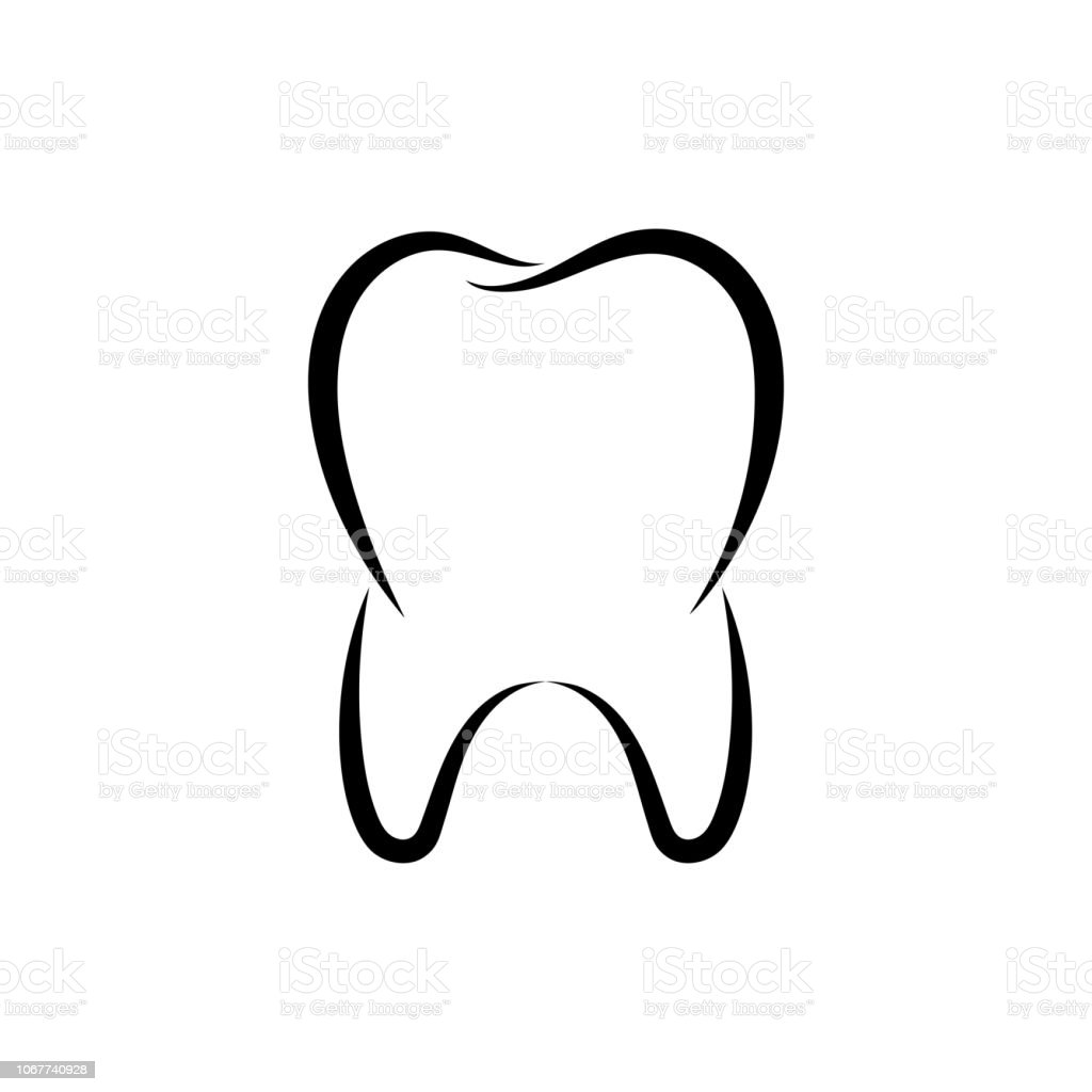 Symbol tooth vector art illustration