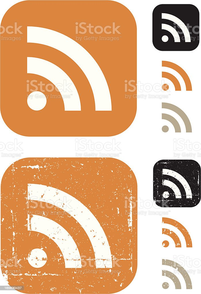RSS Symbol vector art illustration