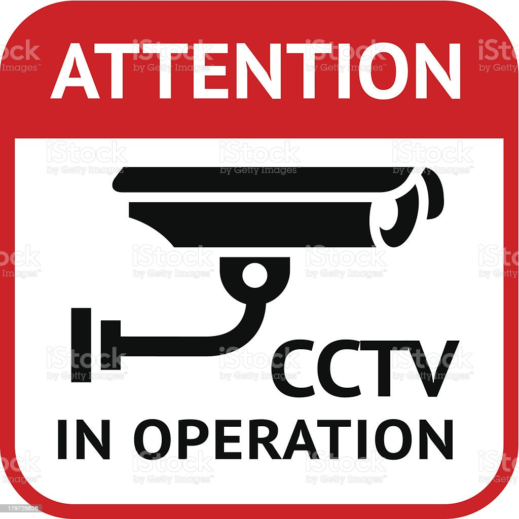 CCTV symbol royalty-free stock vector art