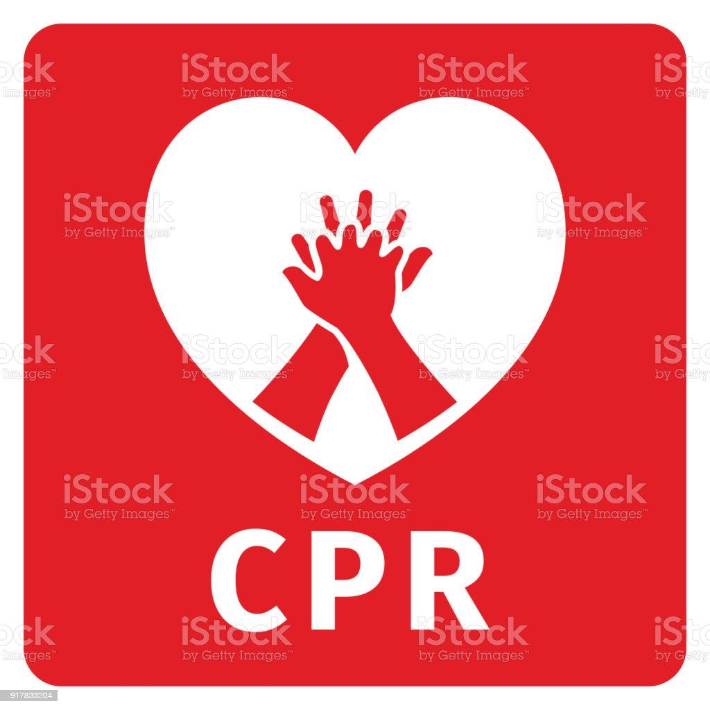 CPR symbol vector art illustration