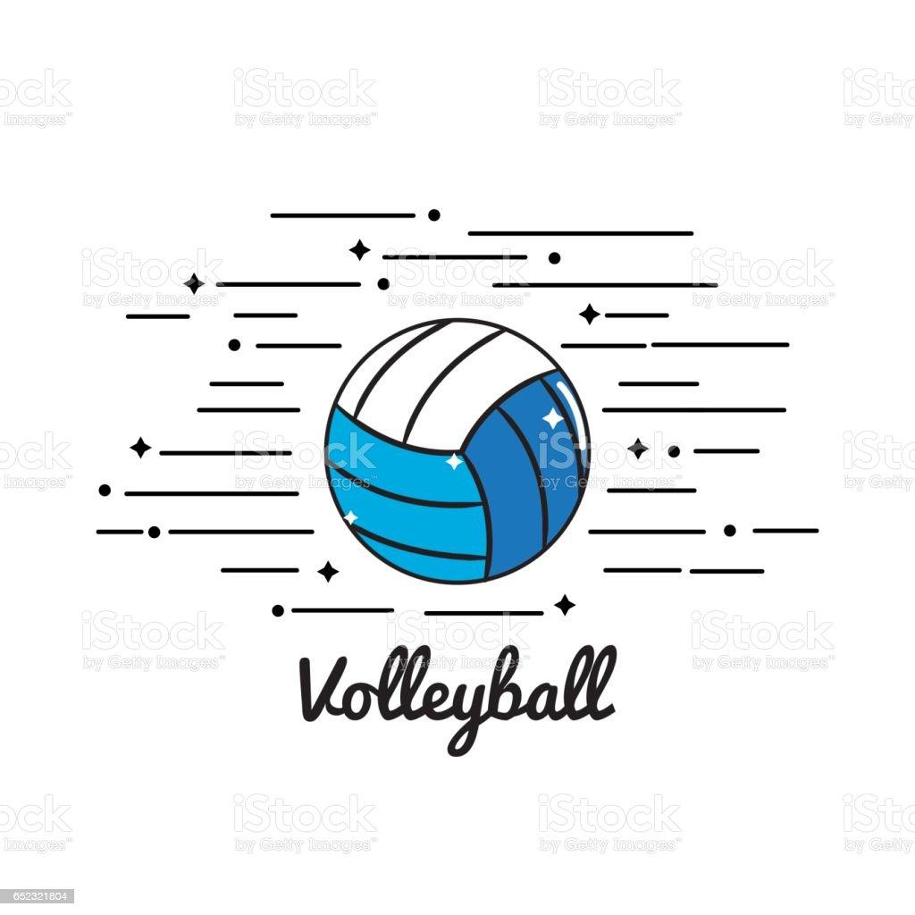 symbol volleyball play icon vector art illustration
