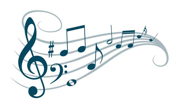 symbol with music notes. - nuta stock illustrations
