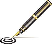 @ symbol with pen