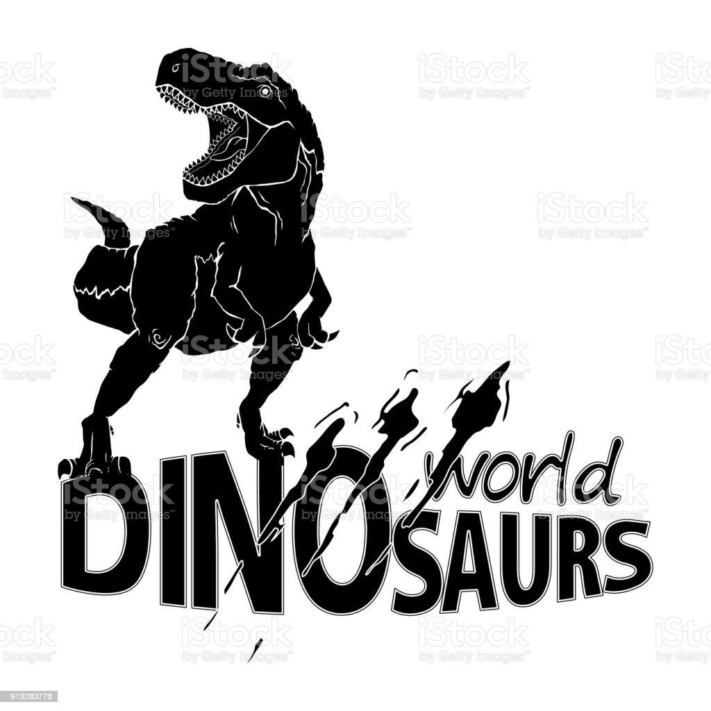Symbol World Of Dinosaurs Vector Illustration