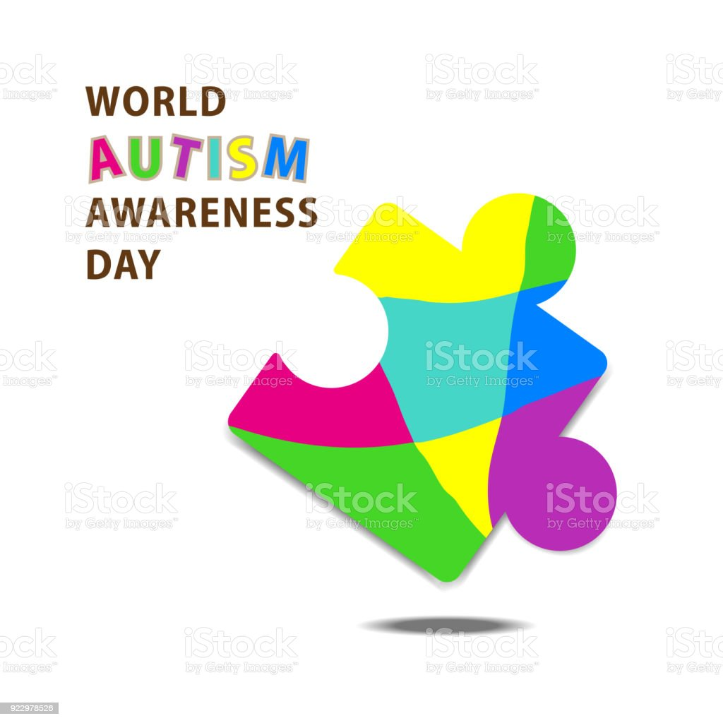 Symbolic icon of colorful puzzle piece for down syndrome and world symbolic icon of colorful puzzle piece for down syndrome and world autism awareness day campaign to biocorpaavc Gallery