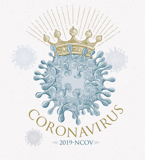 Symbolic illustration of a Coronavirus (Covid-19) vector art illustration