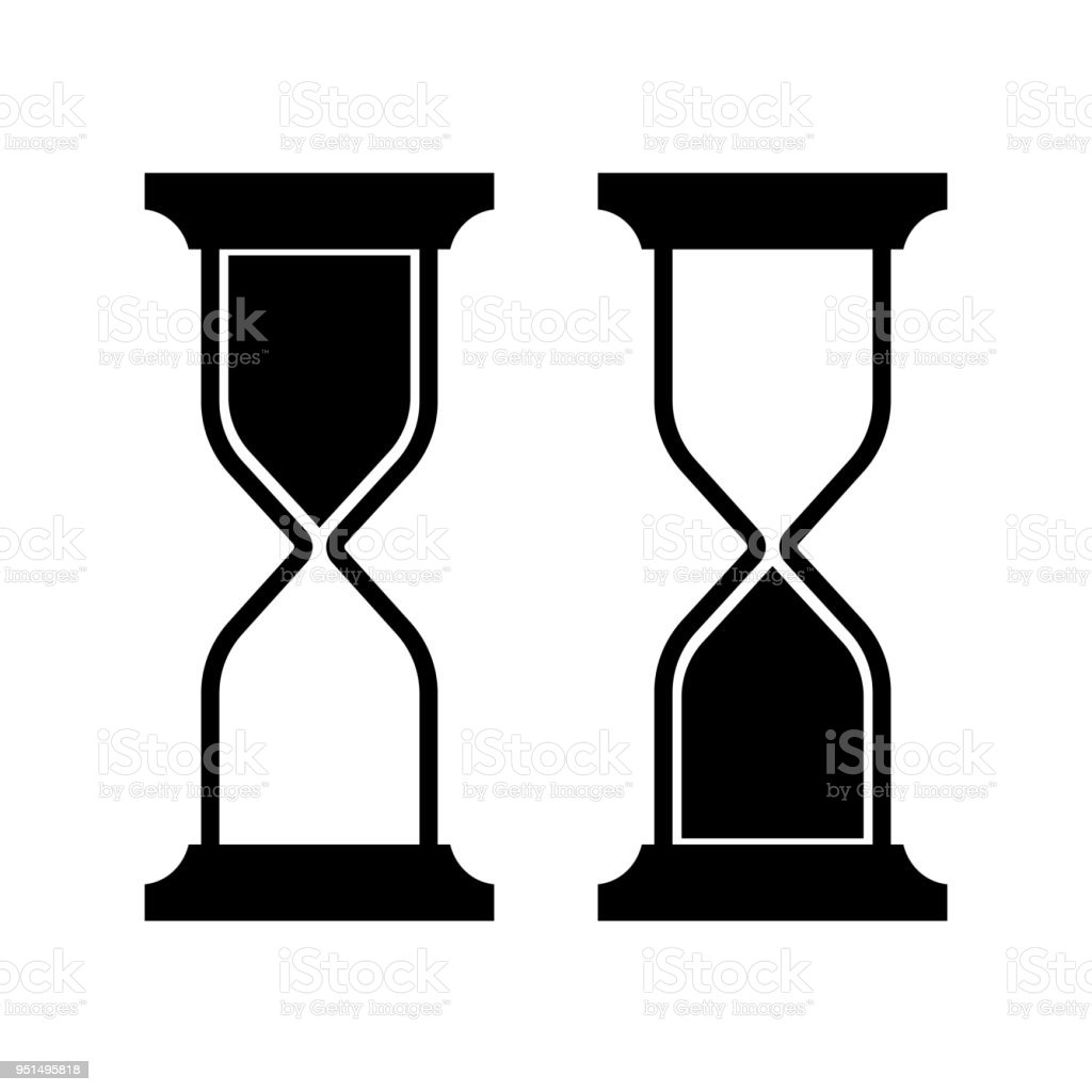 symbolic image of an hourglass stock vector art more images of art rh istockphoto com hourglass vector art hourglass vector art