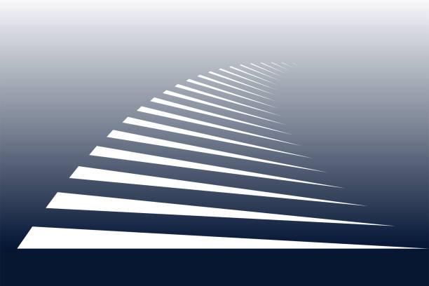 symbolic stripes of zebra crossing. - линейная перспектива stock illustrations
